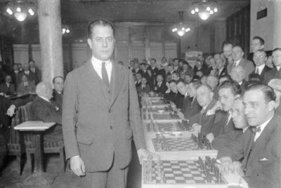 Capablanca in Berlin in 1929